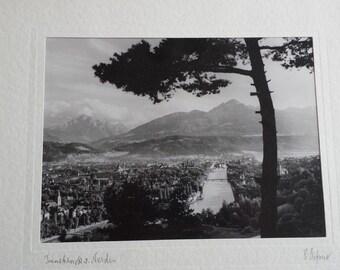 Innsbruck v(on) Norden/Innsbruck from the North (Photograph Signed By Dr. Adalbert Defner)