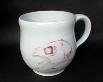 fish skull mug