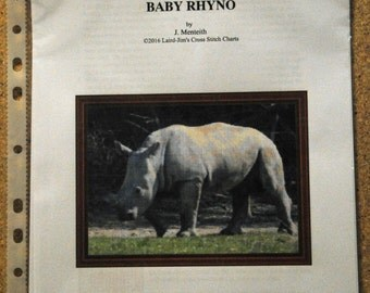 BABY RHYNO Cross Stitch Chart
