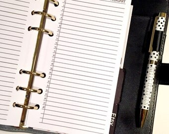 "Month On One Page  ""Lists"" Planner Inserts Jan - Dec Personal Size"