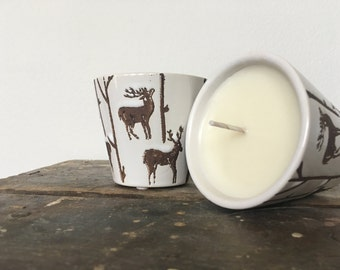 Vixen Votive || 4oz Soy Candle Votive || Holiday Candle || Reindeer Candle Pot