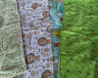 Baby Burp Cloths -Set of 4 -Gender Neutral