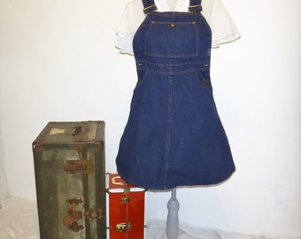 1960's Sears Vintage Denim Overall Jumper Dress