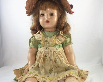 Antique Madame Alexander/Antique Doll/ Vintage Doll, Flora Mcflimsey of Madison Square/ N.Y. U.S.A 1937 Collectable Americana, Art