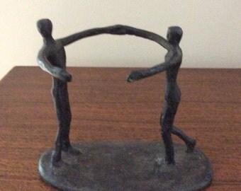 Sculpted Dancing Figures Candle/Vase Holder