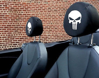 The Punisher Auto SUV Head Rest Covers