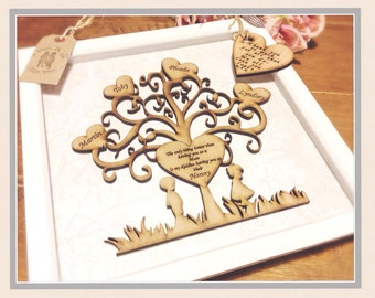 Gift for grandparent, 5th anniversary gift, gift for her , family tree , personalised family tree .