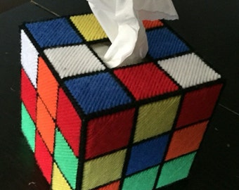 Rubix Cube tissue topper