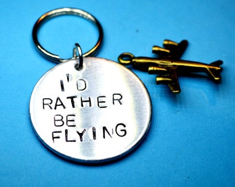 Flying gift, Pilots gift, Aviation gift,Pilot keyring,Aviation keyring, Christmas gift for him, for pilot, flying keychain, Airplane keyring