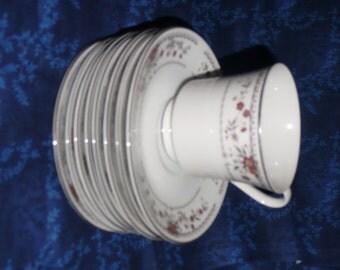 Claremont Fine Porcelain China Footed Teacup & Saucer Set