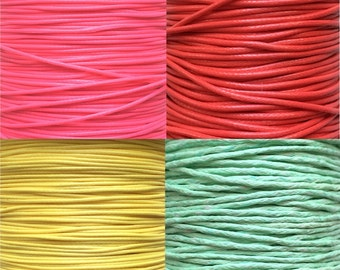 Cotton waxed cord 1mm (2 metres)