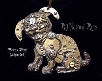 Watch Parts Puppy Pendant in Bronze