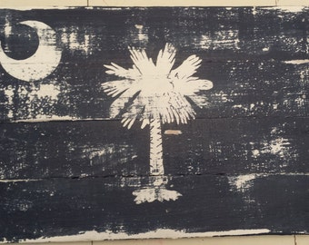 Reclaimed wood / pallet wood rustic South Carolina Flag