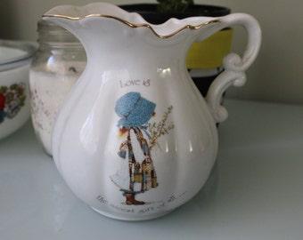 Vintage Holly Hobbie Jug Vase