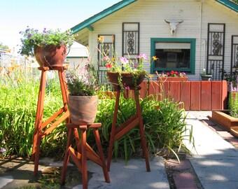 Cedar & Redwood Plant Stands