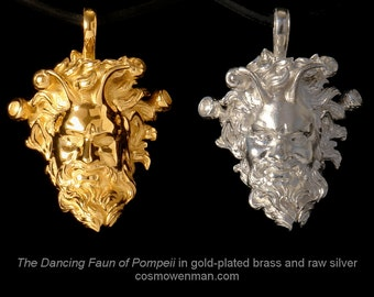 The Dancing Faun of Pompeii necklace pendant