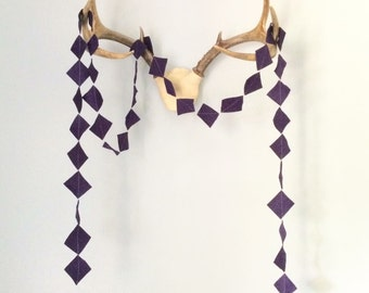 Purple Square Garland