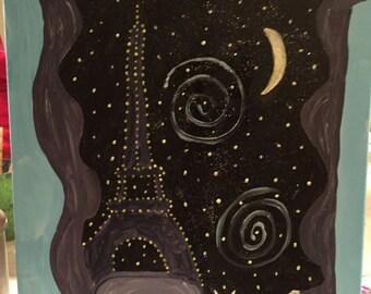 Purple Miss Kitty in Paris