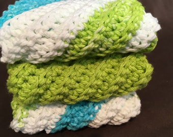 Crocheted Dish Cloths - Set of 3
