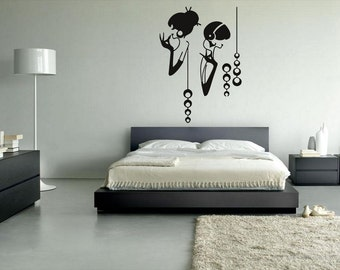 rvz017 Wall Vinyl Sticker Decals Fashion Girls Modern
