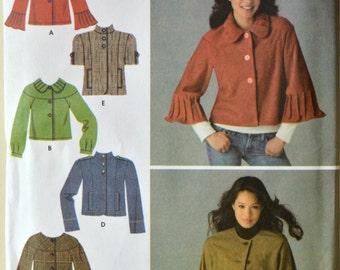Uncut 2007 Simplicity Sewing Pattern 3627; Size 14-16-18-20-22; Misses' Jackets