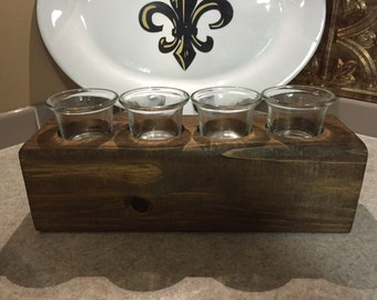Candle holder with 4 votive candle holders