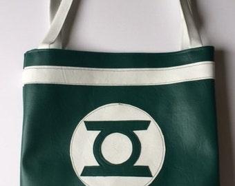 Vinyl Green Lantern totebag