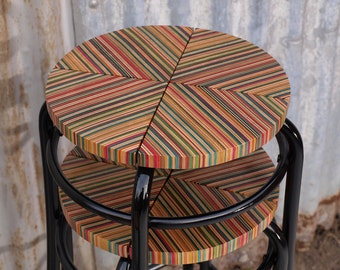 Recycled Skateboard Stools set of 4