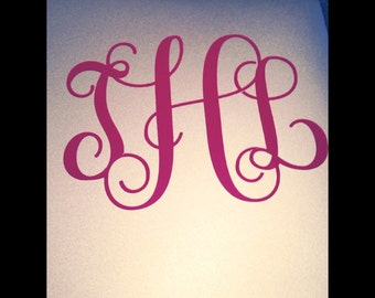 Monogram Laptop sticker/Car Decal