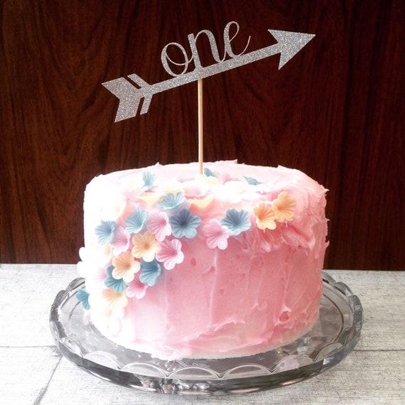 Birthday Cake Images Glitter : First birthday cake topper glitter cake by ...