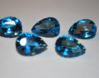 10 x 13 (12.70ct) London Blue Pear Shape Topaz Stone