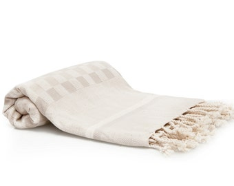 Turkish Bath Towel - Peshtemal Fouta Towel Beach Cover Up Blanket