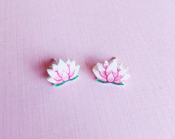 Lotus Flower studs