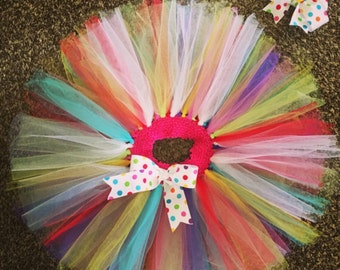 Birthday TuTu with matching bow