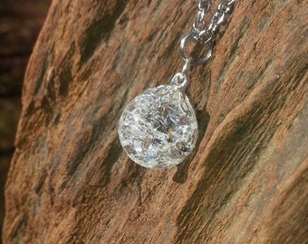 Fried Marble Necklace - Crystal