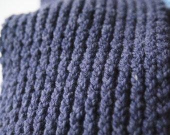 Purple thick scarf