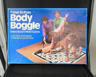 Body Boggle - 1984 by Parker Brothers - COMPLETE - Twister game with words