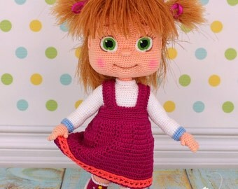 Masha-Handmade crocheted doll