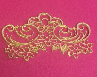 "6 Sugar Doilies Lace, Edible Cake Lace, Lace Applique, 3.5"" (FREE SHIPPING)"
