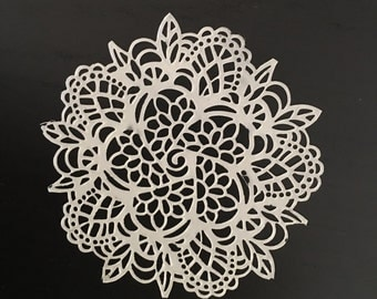 "12 Sugar Doilies Lace, Edible Cake Lace 3"" Applique (FREE SHIPPING)"