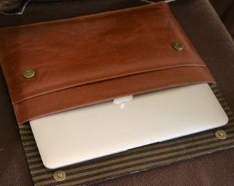 "11"" Macbook Air Leather Laptop Sleeve"