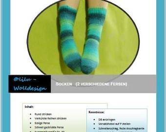 PDF Anleitung Strickanleitung Strickmaschine DB- Socken MS00800, knitting
