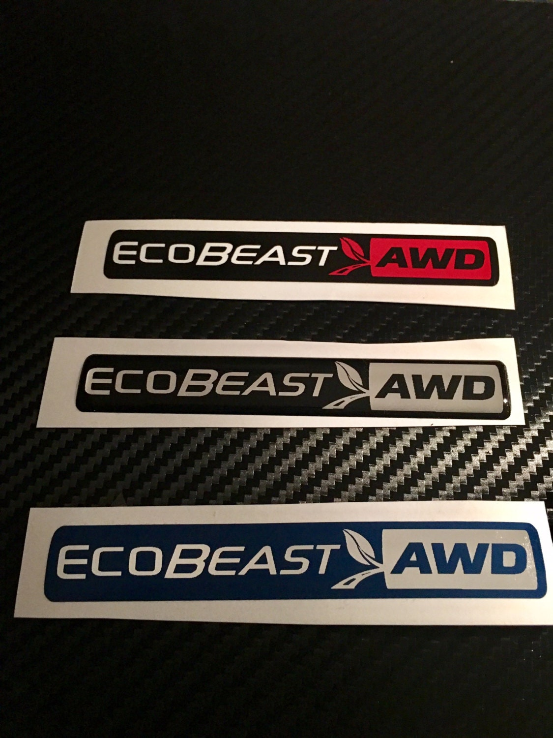 domed ford ecobeast awd emblem overlays ecoboost eco boost
