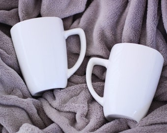 CUSTOM white mug set