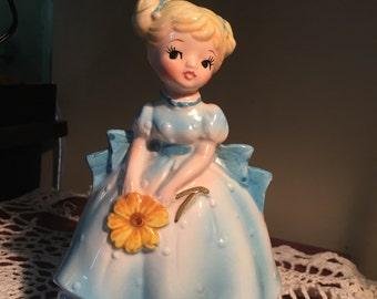 Vintage Bonnie Blonde Blue Gown Planter