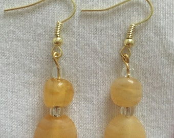 Lemony yellow drop earrings