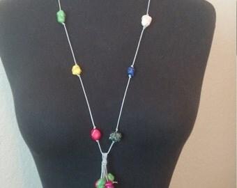 Rock Bead Boho Necklace