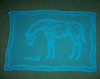 "Filet Crochetfor Horse Lovers pattern only ""Grazing"""