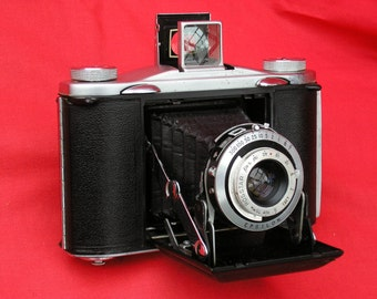 Ensign 12-20 vintage classic folding camera for film photography, with case, all working, tested, exc condition