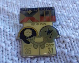 Super Bowl XIII tac pin